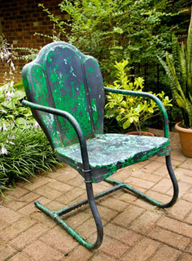 Painted Outdoor Lawn Chair